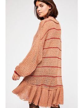 Float On Peplum Sweater by Free People