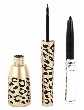 Shot In Leopard Bottle Of 2 In 1 Black Waterproof Liquid Eyeliner And Pen By Shot In by Amazon