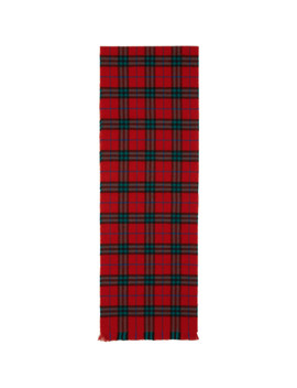 Red Cashmere Vintage Icon Scarf by Burberry