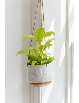 "Speckled Ceramic 5"" Hanging Planter by Urban Outfitters"