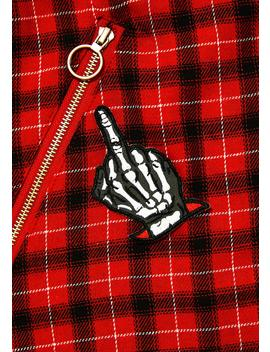 Skeleton Hand Embroidered Patch by Sourpuss Clothing