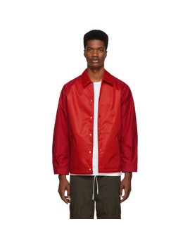 Red Laminated Water Jacket by Comme Des GarÇons Homme