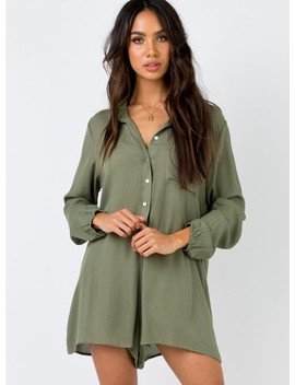 The Mali Playsuit Khaki by Princess Polly