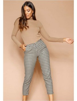 Nena Green Checked Trousers by Missy Empire