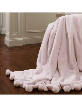 aurora-home-luxe-faux-fur-pom-throw-blanket by aurora-home