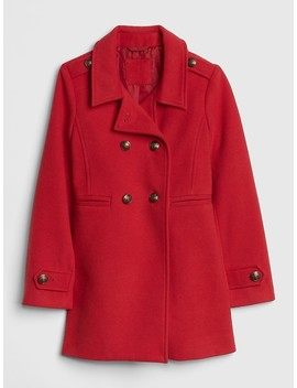 Wool Double Button Peacoat by Gap
