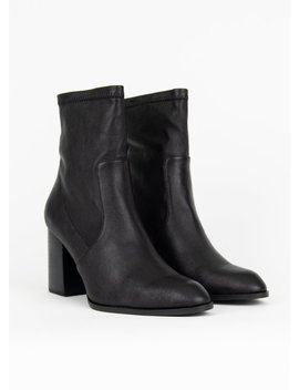 """""""Intentionally           ."""" Janet Booties   Black by Garmentory"""
