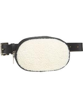 Faux Shearling Belt Bag by Steve Madden