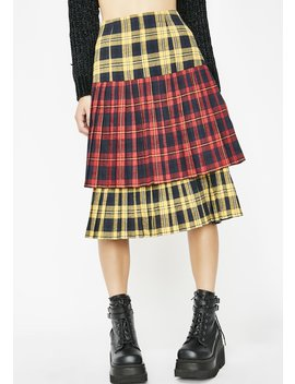 Sunday Skool Plaid Skirt by Love Harmony