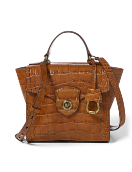 Crocodile Embossed Satchel by Ralph Lauren