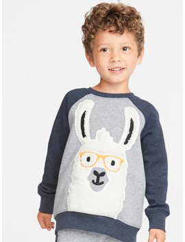 Llama Graphic Raglan Sweatshirt For Toddler Boys by Old Navy