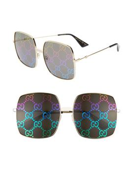 60mm Square Sunglasses by Gucci