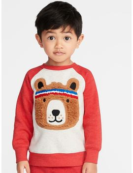 Bear Critter Raglan Sweatshirt For Toddler Boys by Old Navy