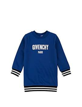 Kids' Logo Cotton Blend Sweatshirt Dress by Givenchy