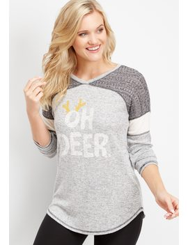 Oh Deer Graphic Tee by Maurices