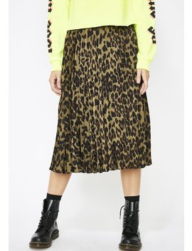Dank Wild About You Leopard Skirt by Her Bottari