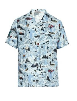 Printed Short Sleeved Poplin Shirt by Lanvin