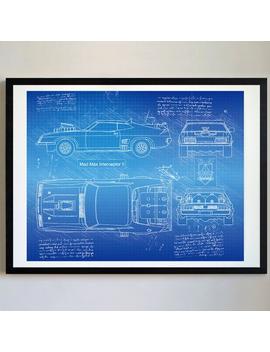 Mad Max Interceptor Ii (1981) Da Vinci Sketch, Mad Max Artwork, Blueprint Patent Prints Posters, Decor, Art, Car Art, Cars (#278) by Etsy