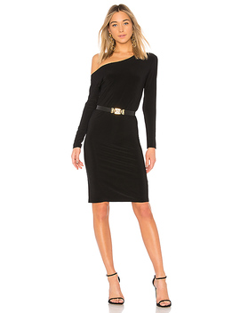 Drop Shoulder Long Sleeve Dress by Norma Kamali