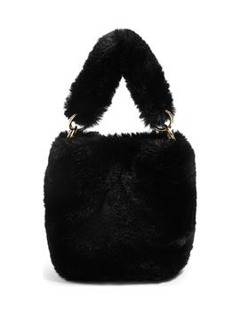 Teddy Faux Fur Bucket Bag by Topshop