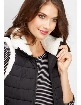 Sherpa Trim Puffer Vest by Maurices