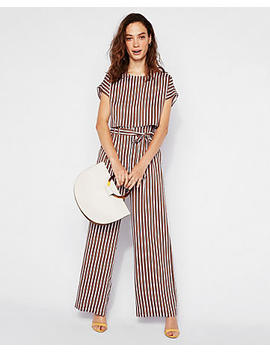 Striped Cropped Dolman Tee by Express