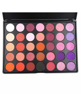 Miskos Purple Series 35 Color Eyeshadow Palette Shimmer Matte Warm Orange Make Up Set Naked Eye Shadow Cosmetic Kit 35 P 2 by Amazon