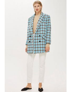 Houndstooth Coat by Topshop