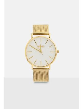 Gold Mesh Strap Watch by Missguided