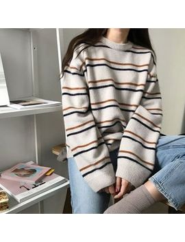 Moon City   Striped Sweater by Moon City