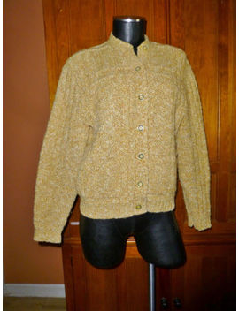 Vtg 60s Rockabilly Milwaukee Knits Original Wool Dacron Hippie Cardigan Sweater by Original Styles Milwaukee Knit