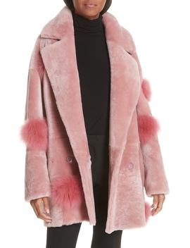 Peony Genuine Shearling Coat by Anne Vest