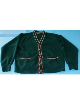 Vintage Orlon Campus Green Cardigan Sweater Size Small Free Ship Made In Usa by Campus