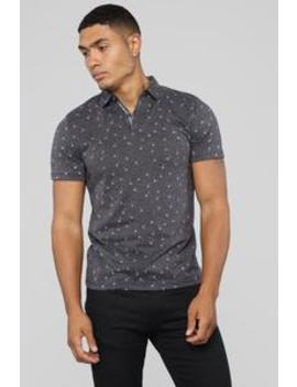 Dandy Short Sleeve Polo   Grey by Fashion Nova
