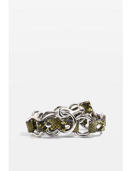 Snake Print Circle Link by Topshop