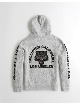 Panther Applique Hoodie by Hollister