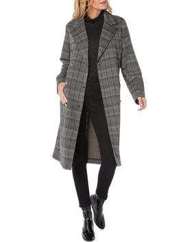 Plaid Ponte Coat by Michael Stars