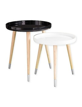 Holly &Amp; Martin® Coho 2 Piece Accent Table Set In Black by Bed Bath And Beyond