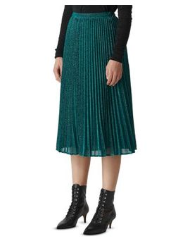 Pleated Sparkle Skirt by Whistles