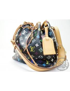 Auth Pre Owned Louis Vuitton Lv Monogram Multi Color Noe Wine Bag M42230 181156 by Louis Vuitton