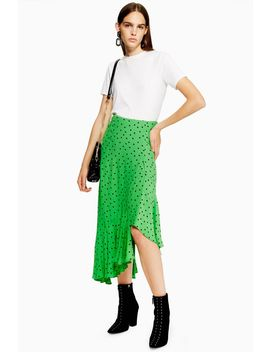 Spot Ruffle Midi Skirt by Topshop