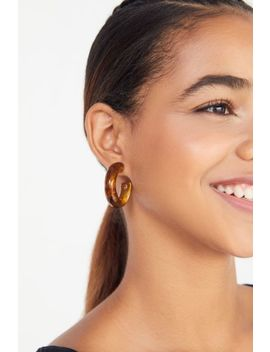 Amber Resin Hoop Earring by Urban Outfitters