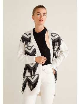 Fringed Cotton Cardigan by Mango