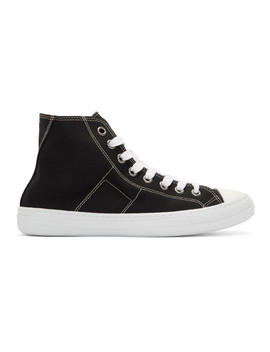 Black Stereotype High Top Sneakers by Maison Margiela