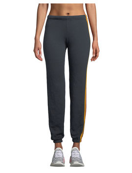 5 Stripe Sporty Jogger Sweatpants by Neiman Marcus