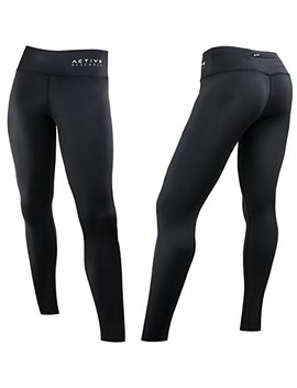 Active Research Women's Compression Pants   Athletic Tights W/Hidden Pocket by Active Research