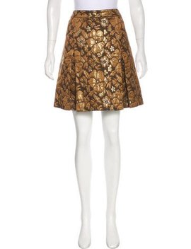 Miu Miu Brocade Knee Length Skirt by Miu Miu