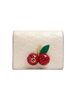 Gucci Signature Card Case With Cherries by Gucci