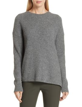 Side Slit Ribbed Sweater by Vince