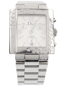Silver Riva Watch by Dior